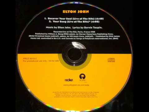 """ELTON JOHN """"RECOVER YOUR SOUL/YOUR SONG"""" RITZ 1998"""