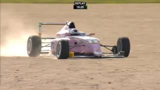 ADAC Formula 4 Championship 2017. Race 3 EuroSpeedway Lausitz. Lirim Zendeli Loses Wheel