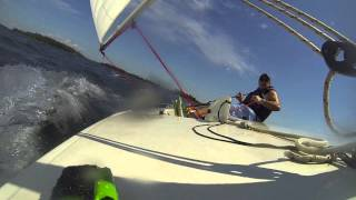 Fast Laser Sailing with a downwind double death roll! (GOPRO HD)