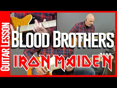 Blood Brothers By Iron Maiden - Guitar Lesson