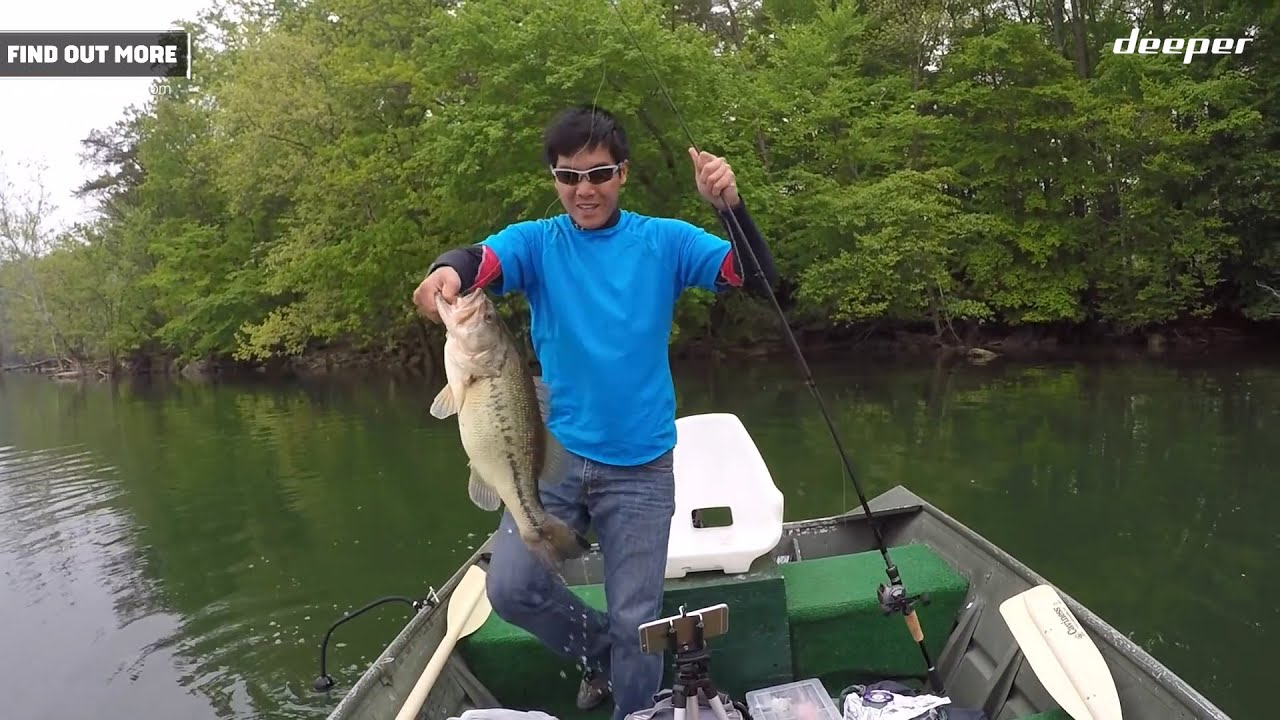 Deeper unlocking the bass pattern at loch raven reservoir for Bass fishing in maryland