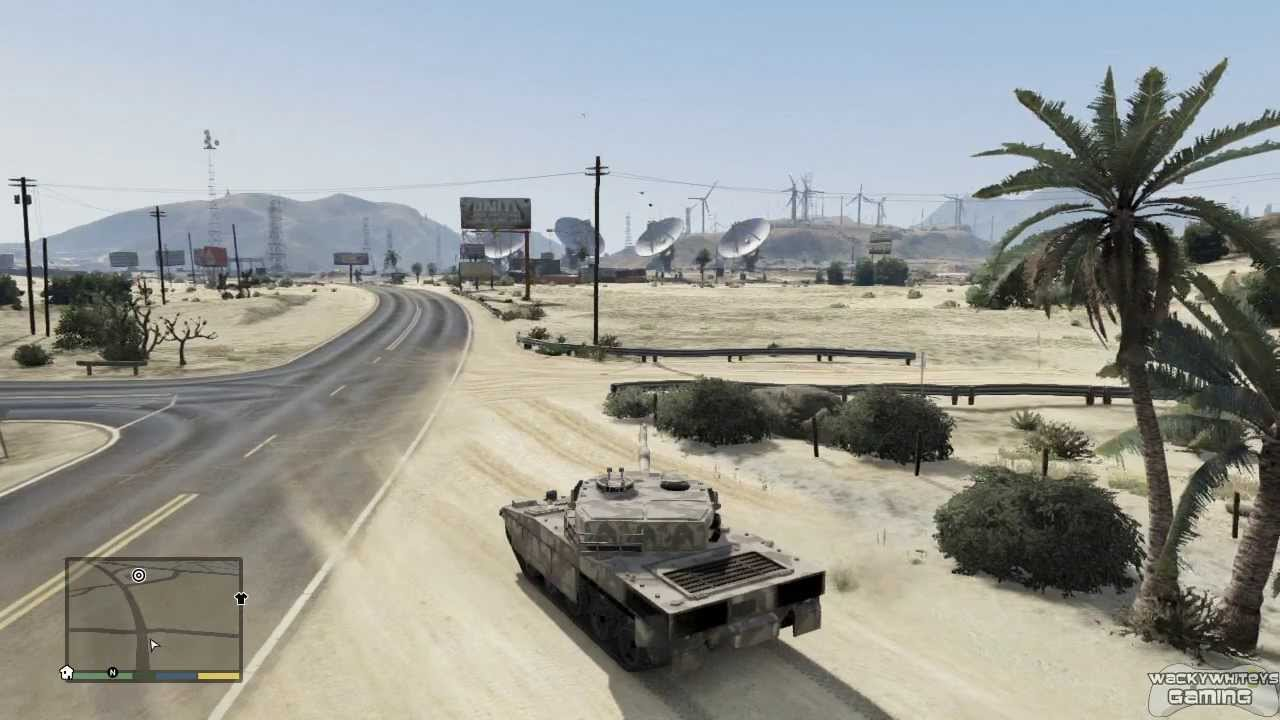 if you buy a tank in gta 5 where does it go