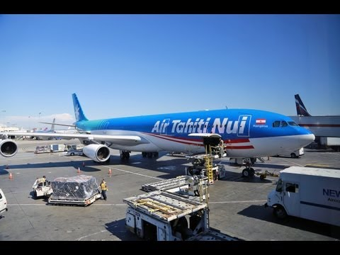 Air Tahiti Nui airlines flight from Los Angeles to Papeete