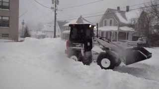 Bobcat Loader Plowing Snow Time Lapse