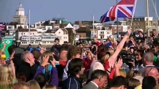 (hd) Olympic Torch Relay Falkland Gardens Gosport - Sunday 15th July 2012