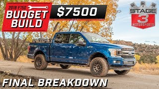 Ford F150 Budget Build Tier 3 Final Breakdown $7500