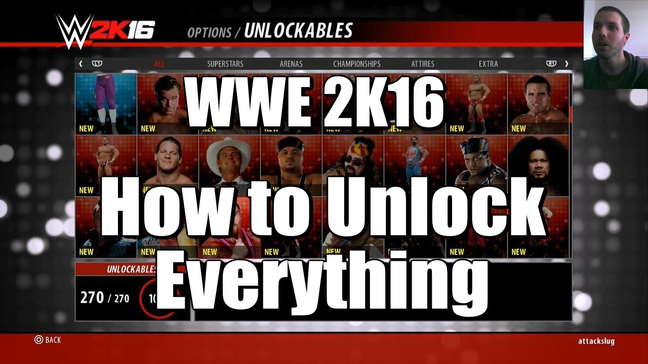 <b>WWE 2K16</b> - How To Unlock Everything (Tutorial) - YouTube