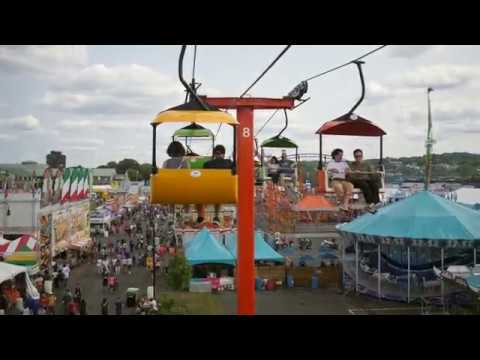 Ride on the Skyliner Sky Ride at the NY State Fair real time 21 Minutes 4K UHD 60fps