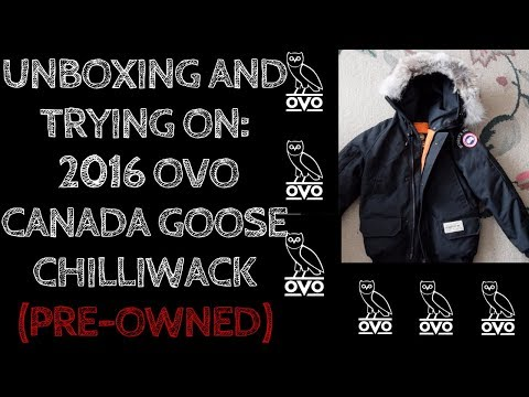 Very Quick Unboxing And Trying On-- $1200 OVO Canada Goose Chilliwack--Drake