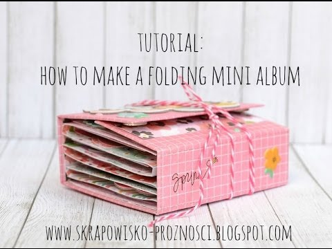 Tutorial: How to create a folding mini album - YouTube