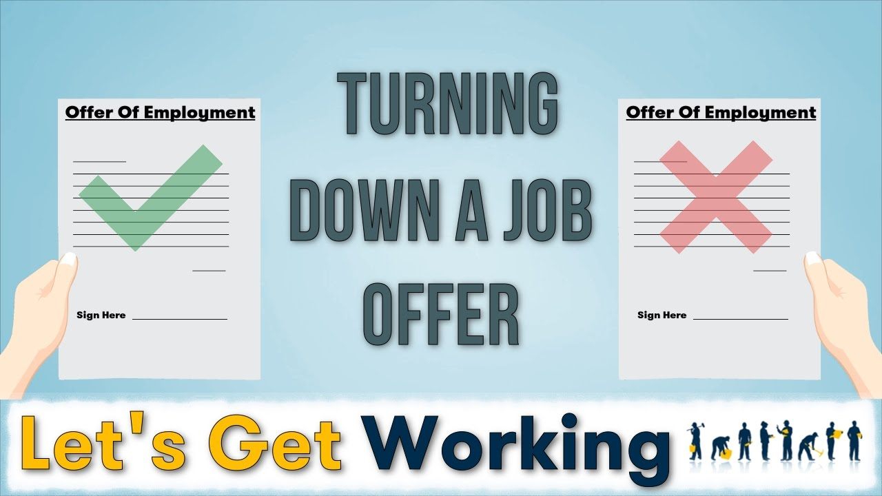 turning down a job offer turning down a job offer