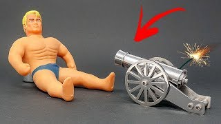 MINI CANNON vs STRETCH ARMSTRONG