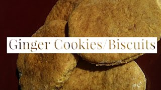 How To Make Ginger Biscuits/Cookies | Easy Recipes | South African Youtuber |