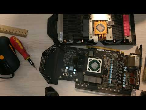 чистка видеокарты XFX RX 580