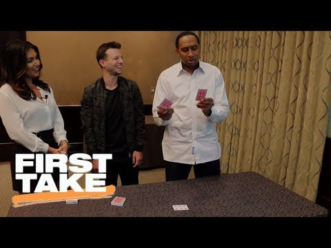 Magician Mat Franco stuns Stephen A. Smith and Molly Qerim with magic trick | First Take | ESPN