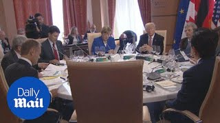 G7 leaders hold first roundtable meeting in Italy - Daily Mail