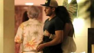 Zac and Vanessa in Hawaii w/Neck Kiss