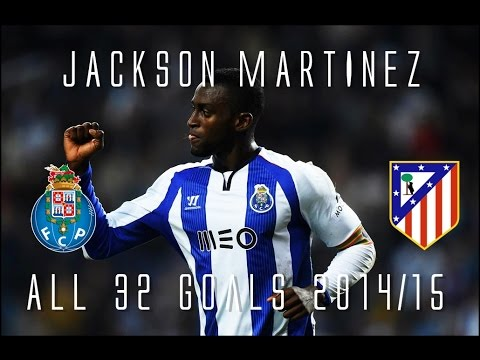 Jackson Martinez // ATLETICO MADRID's New Signing! // All 32 Goals for Porto 2014/15 // HD