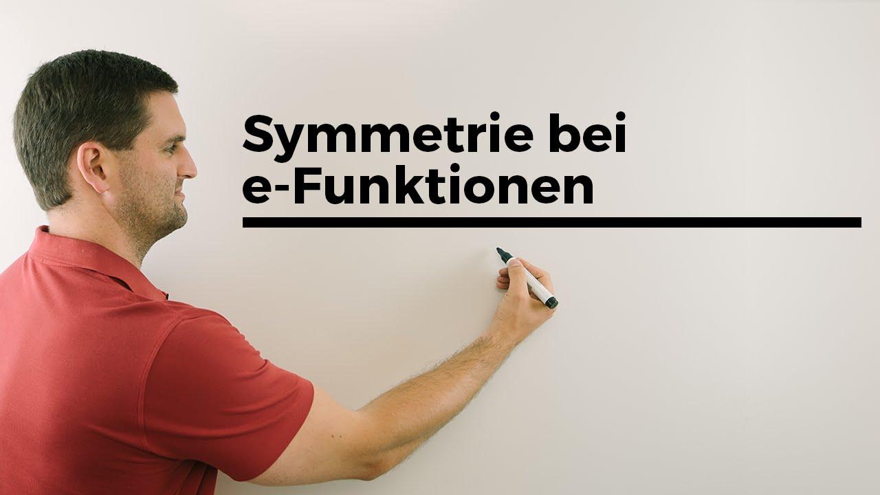 symmetrie bei e funktionen exponentialfunktion mathehilfe online mathe by daniel jung youtube. Black Bedroom Furniture Sets. Home Design Ideas