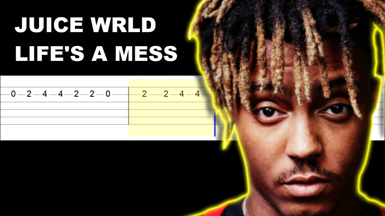 Juice WRLD ft Halsey - Life's A Mess (Easy Guitar Tabs Tutorial)
