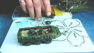 Іграшка з пластиліну. Військовий Бронитранспортер БТР. Ліплення для дітей. Вироби