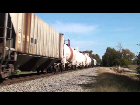 CN SD60 #5424 leads a freight at Henning, Tennessee
