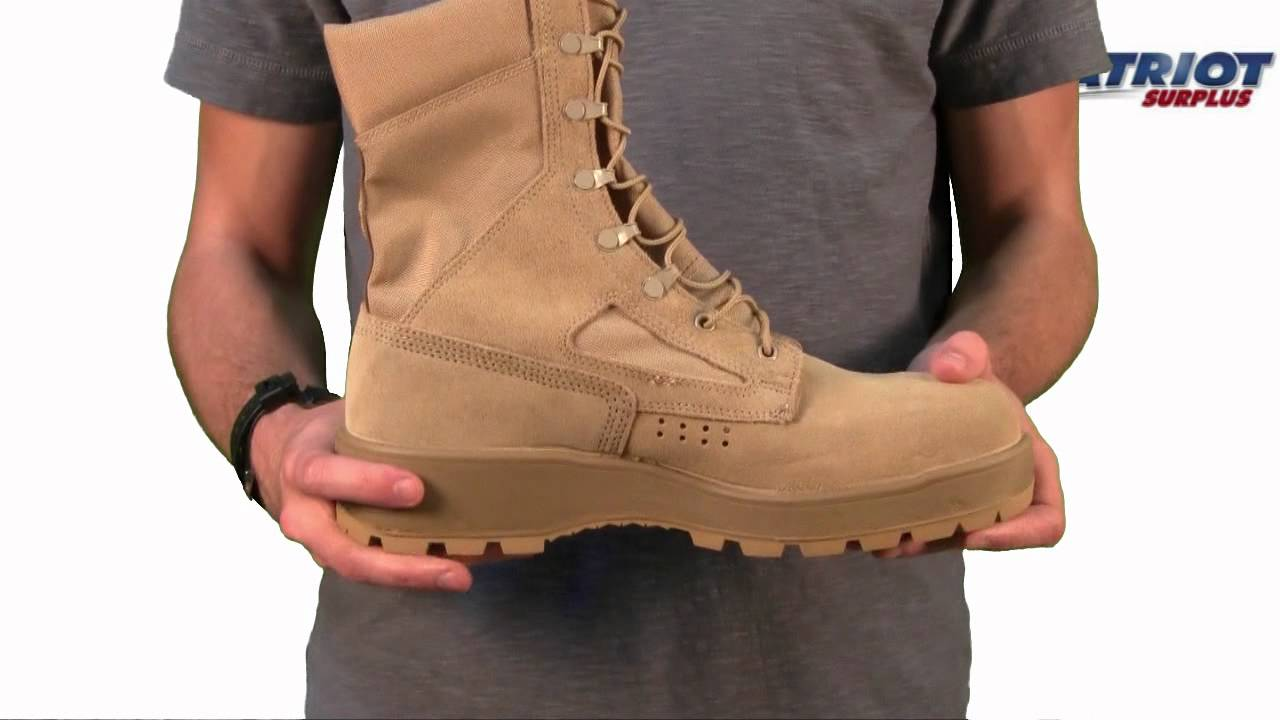 Mens Rocky Hot Weather American Made Steel Toe Desert Boots - YouTube
