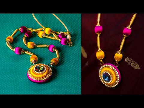 How to make wooden Bead Necklace || Diy || jewellery making at home || Handmade Jewellery
