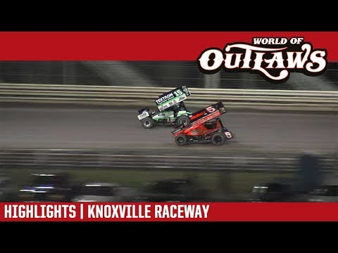 World of Outlaws Craftsman Sprint Cars Knoxville Raceway June 30, 2018 | HIGHLIGHTS