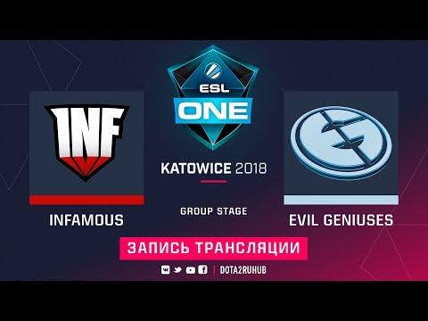 Infamous vs Evil Geniuses, ESL One Katowice, game 2 [Lum1Sit, Autodestruction]