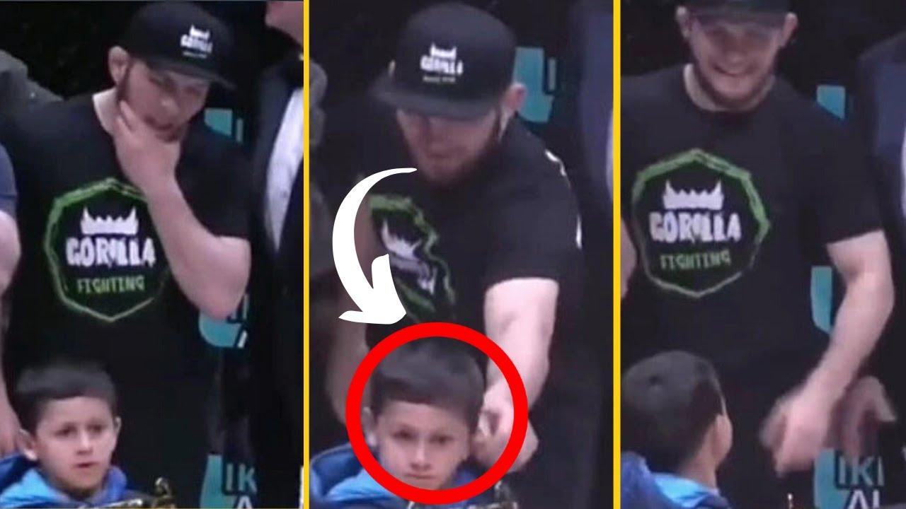 Khabib Nurmagomedov Pulls A Kid S Ear Funny Youtube