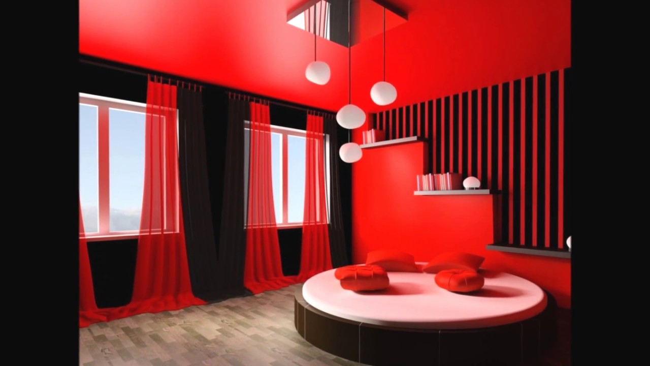 Stylish Black And Red Curtains For Living Room Youtube