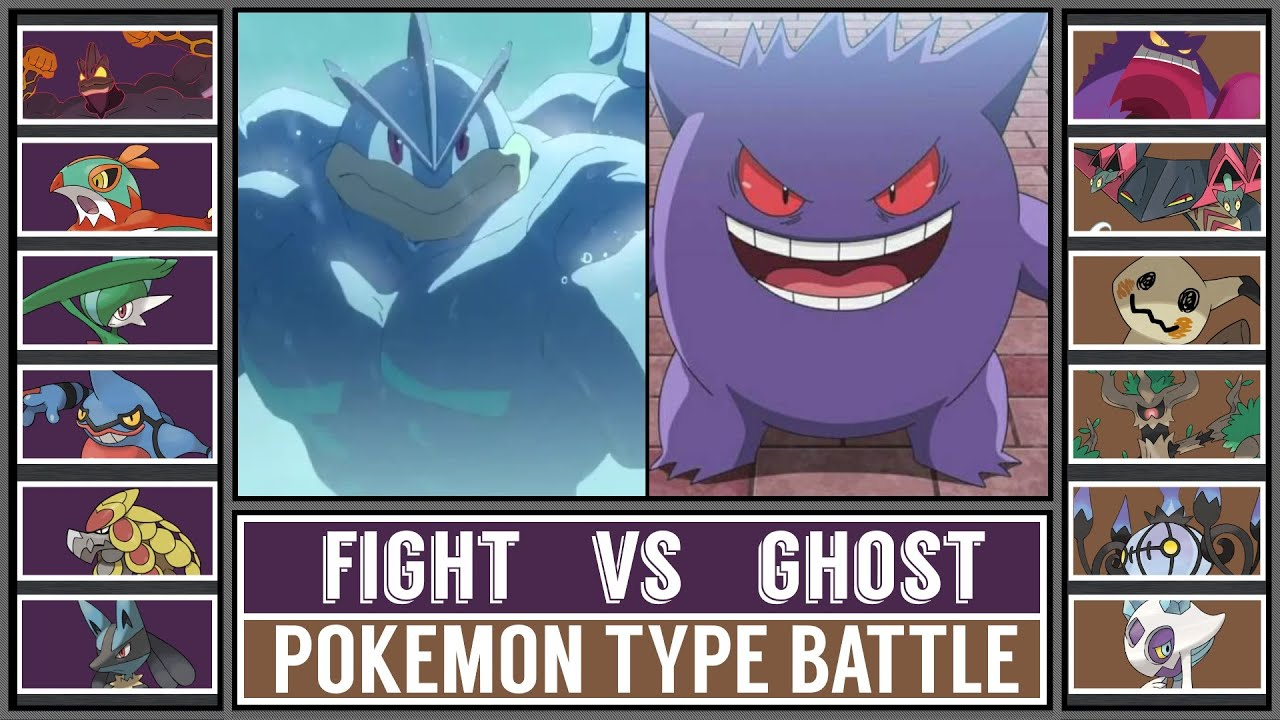 Pokémon Type Battle: FIGHTING vs GHOST