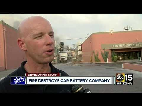 Fire breaks out at factory that produces lithium batteries