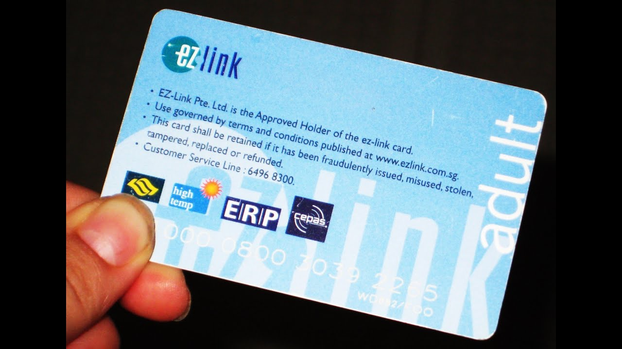 ezlink card public transport in singapore bus smrt card [hd
