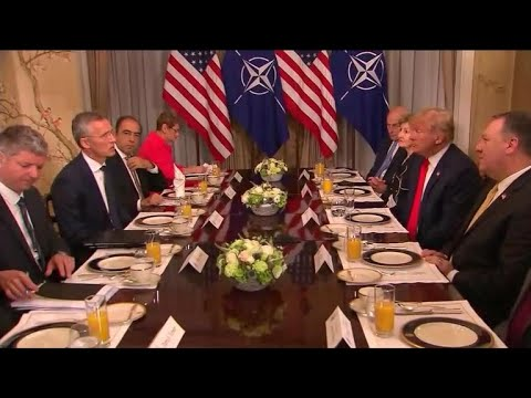"""Trump says Germany is """"controlled by Russia"""" at NATO meeting"""