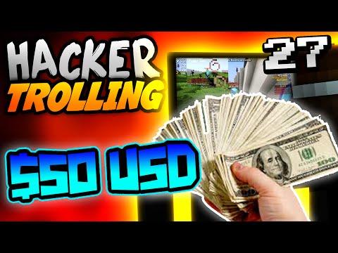 Minecraft HACKER TROLLING - STEALING $50 USD FROM HACKER!! - Ep. 27 ( Minecraft 1.8 Hacks )