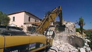 France: démolition d'une villa de luxe à Ramatuelle