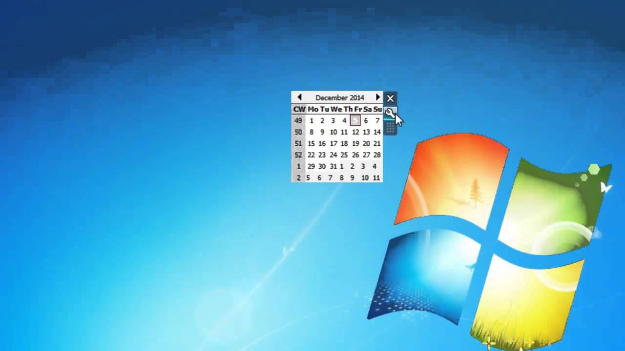 Desktop calendar windows 10