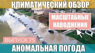 Мощные наводнения в истории метеонаблюдений. Аномальная погода. Климатические изменения. Выпуск 75