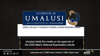 UMalusi media briefing on 2020 Matric results approval