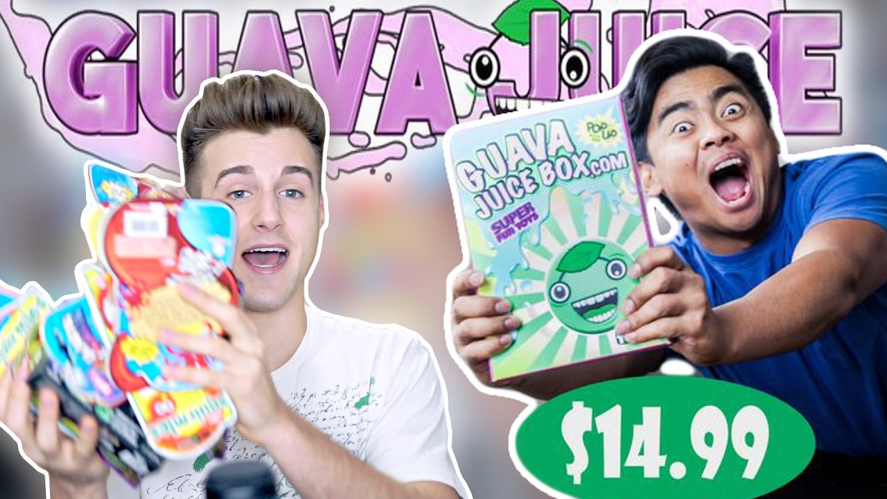 Gava Joucie Bu The Toy : Reacting to the guava juice toy box youtube