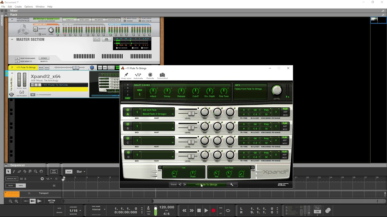 VST instruments freezing the plug in window Reason 10