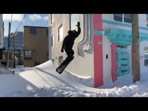 Snowboards and street parties: Making the most out of an epic storm