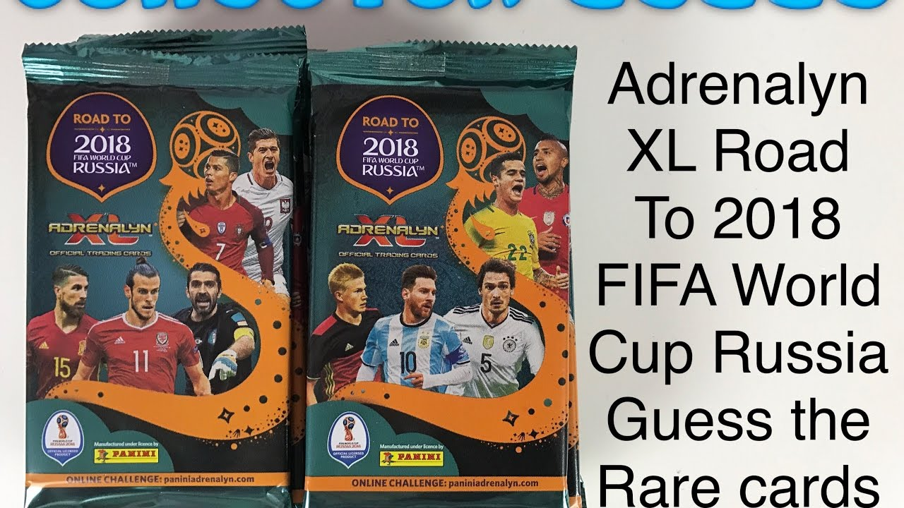 c70ab274b83 Adrenalyn XL Road to 2018 Fifa World Cup Russia Guess the rare cards game 20  packs