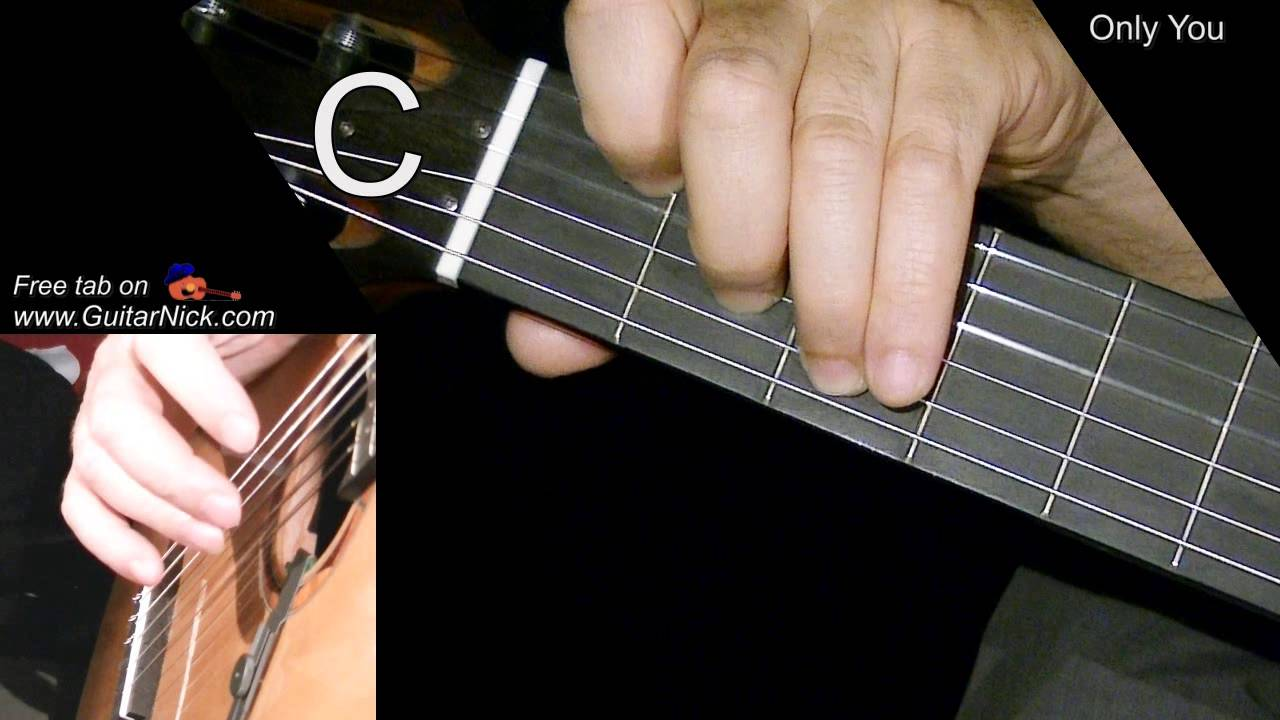 Only You Easy Guitar Lesson Tab Chords By Guitarnick Youtube