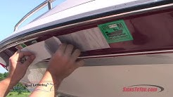 How to install boat registration numbers and names