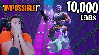 I Completed A 10000 Level Fortnite Deathrun...   MPOSS BLE