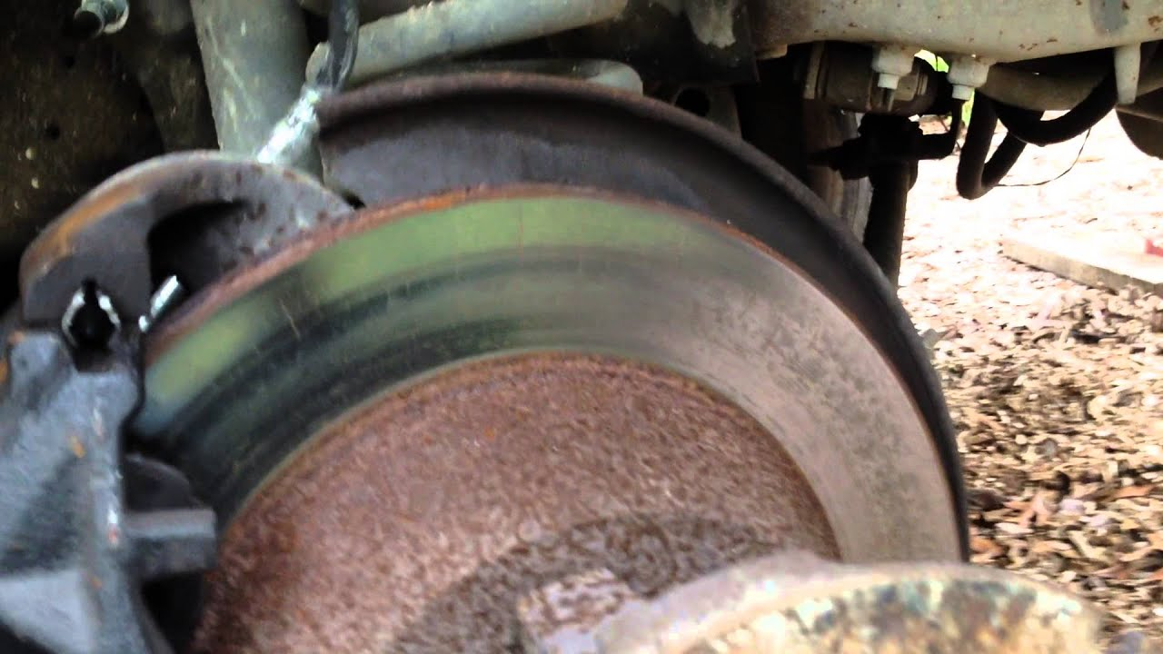 1994 Ford F-350 dually front brake rotor worn out on the ...