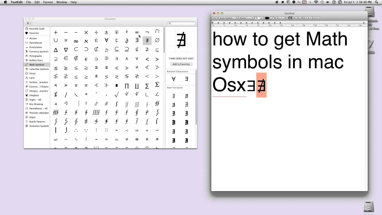 How to get math symbols in mac youtube how to get math symbols in mac biocorpaavc Gallery